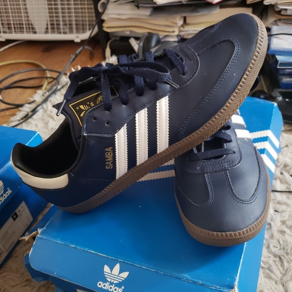 adidas Other - Adidas samba navy blue 52611fbcb